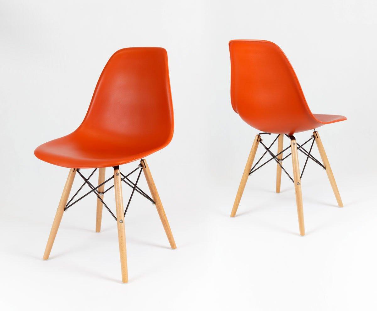 Sk design kr012 orange stuhl buche orange holz buche for Stuhl buche
