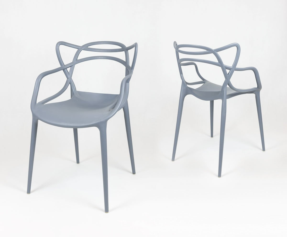 Sk design kr013 grau stuhl dunkelgrau sonderangebote for Design stuhl grau