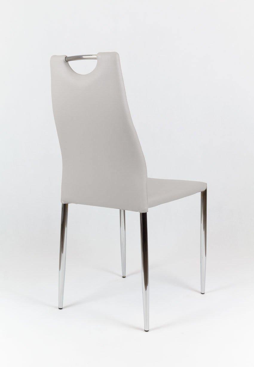 sk design ks005 grau kunsleder stuhl mit chromgestell hellgrau angebot st hle farbe grau. Black Bedroom Furniture Sets. Home Design Ideas
