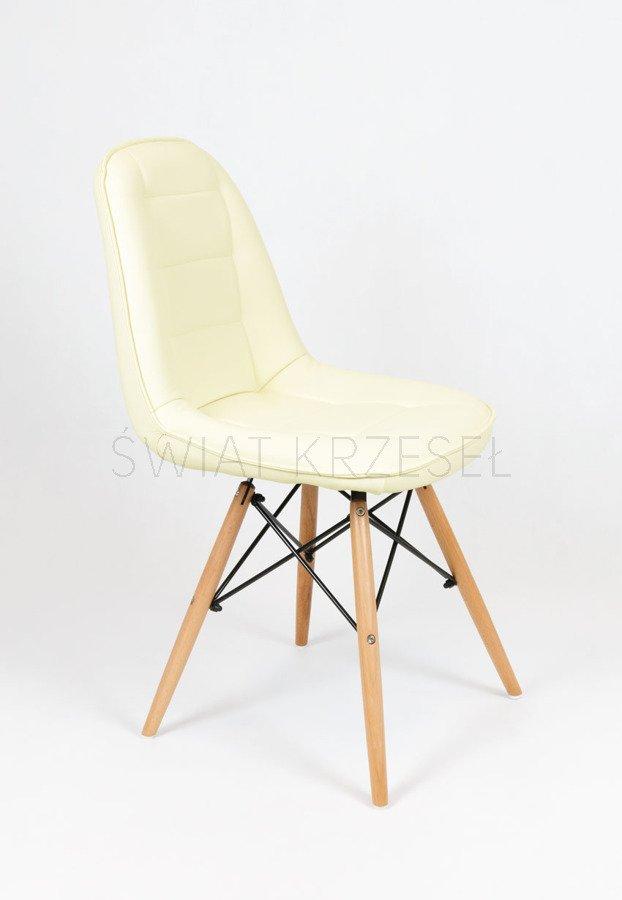 sk design ks009 creme kunsleder stuhl mit holzbeine sahnig. Black Bedroom Furniture Sets. Home Design Ideas