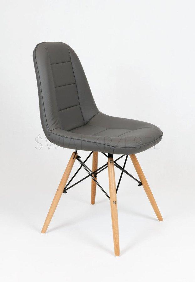sk design ks009 dunkelgrau kunsleder stuhl mit holzbeine. Black Bedroom Furniture Sets. Home Design Ideas