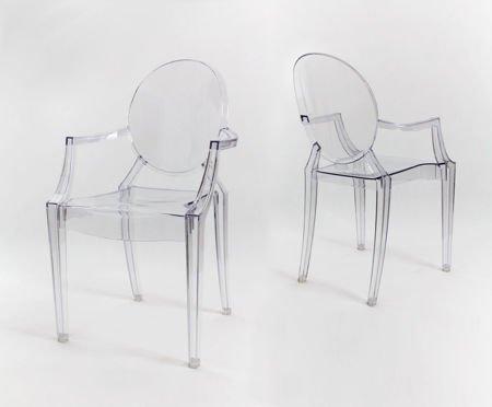 SK Design KR001 Transparent Stuhl Ghost
