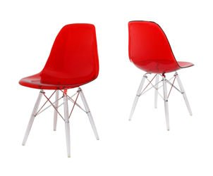 SK DESIGN KR012 CLEAR RED CHAIR CLEAR