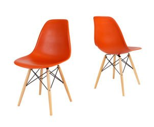 SK DESIGN KR012 ORANGE CHAIR BEECH