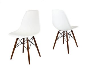 SK Design KR012 White Chair Wenge