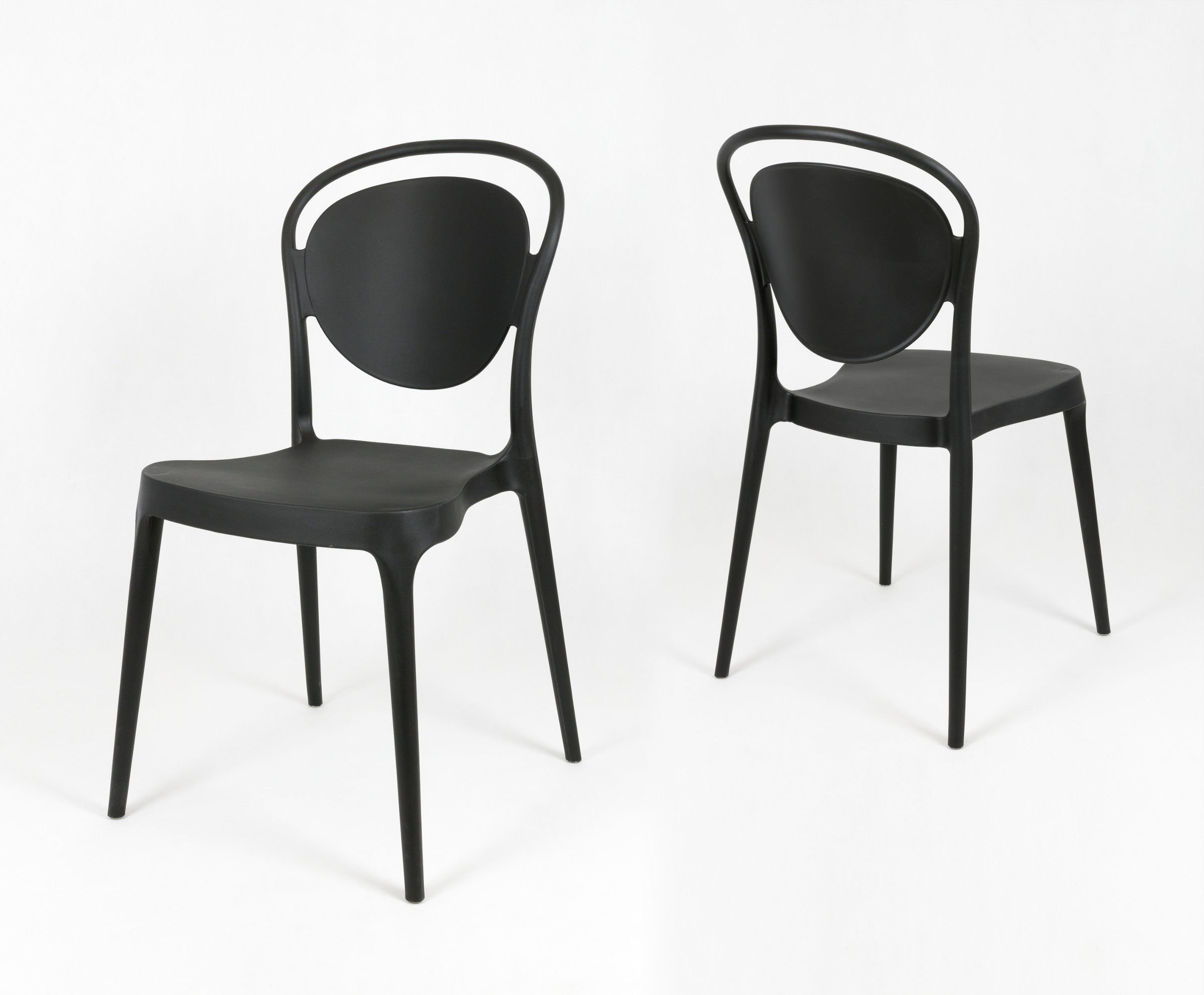 Sk design kr055 black polypropylene chair click to zoom