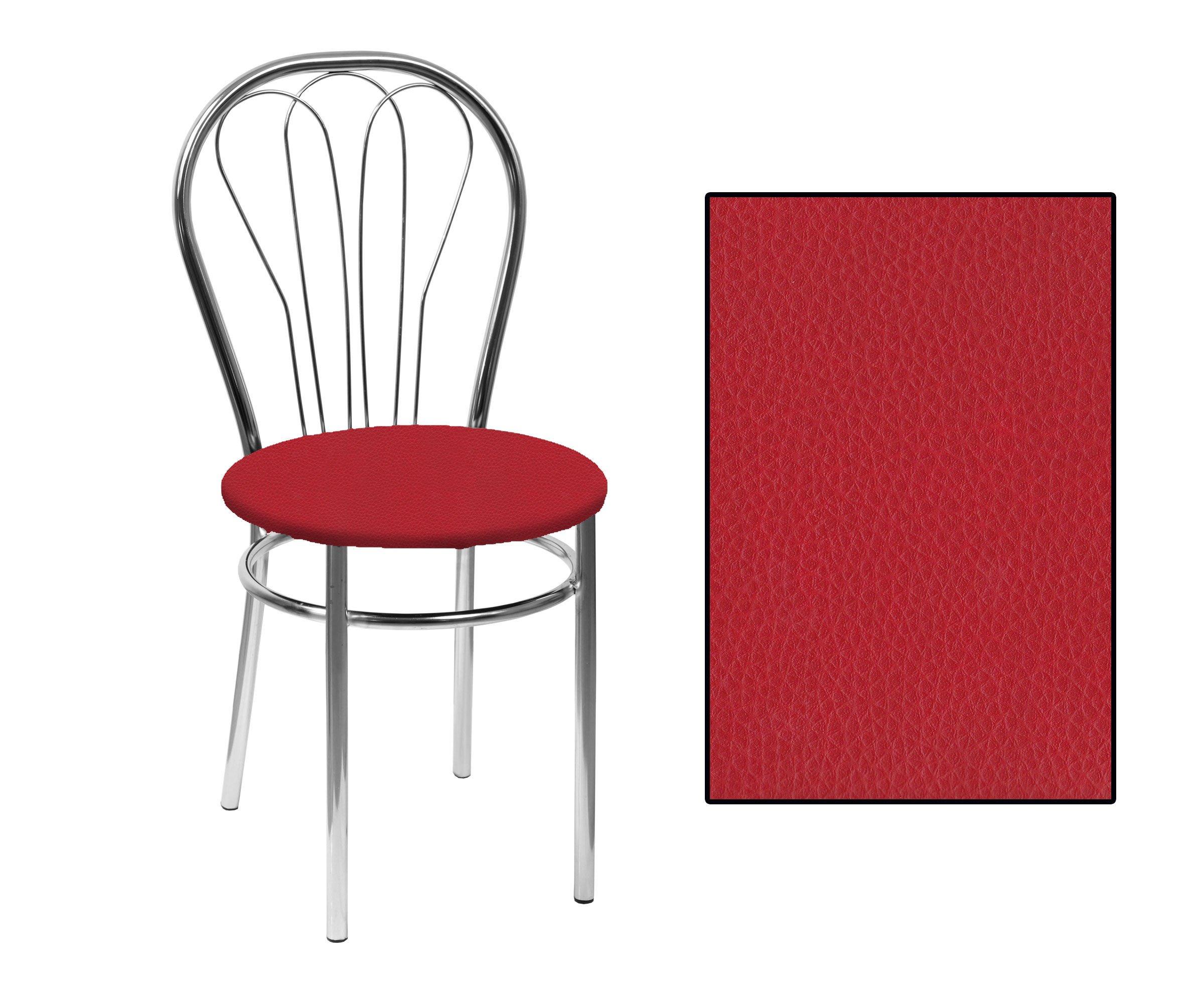 SKN Venus Red Chair Chrome Legs