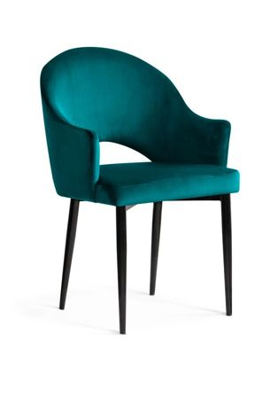 GODA Chair turquoise / black leg / BL85