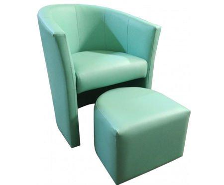 Aquamarine CAMPARI armchair with footrest