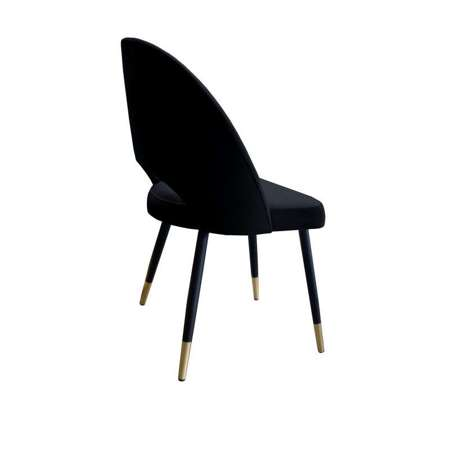 Black upholstered LUNA chair material MG-19 with golden leg