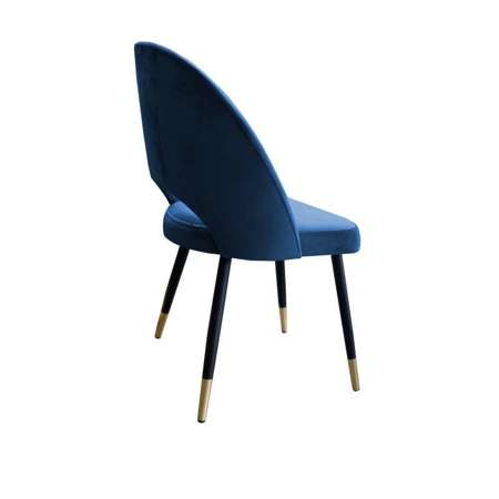 Blue upholstered LUNA chair material MG-33 with golden leg