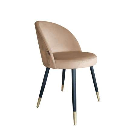 Bright brown upholstered CENTAUR chair material MG-06 with golden leg