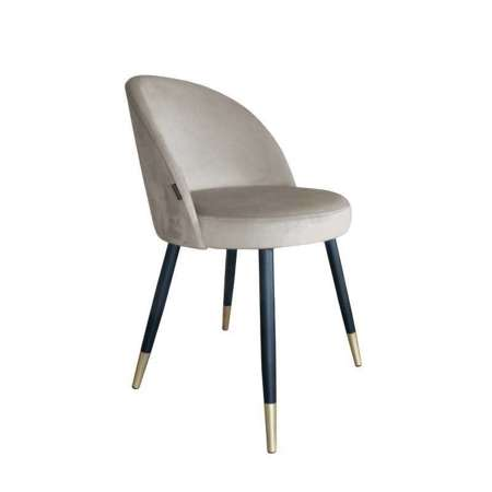Bright brown upholstered CENTAUR chair material MG-09 with golden leg