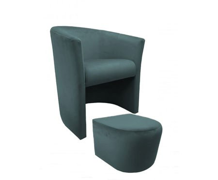 CAMPARI armchair with footrest Bluvel 06