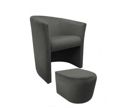 CAMPARI armchair with footrest Magic Velvet 17
