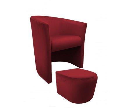 CAMPARI armchair with footrest Magic Velvet 31