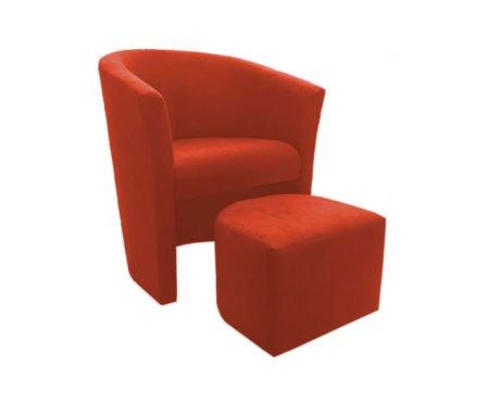 CAMPARI armchair with footrest microfibre 7
