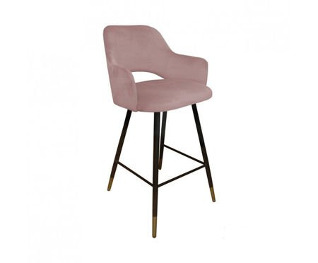 Coral upholstered STAR hoker material MG-58 with golden leg