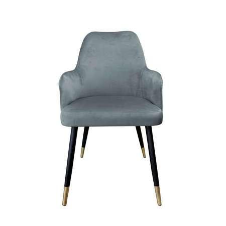 Dark gray upholstered PEGAZ chair material BL-14 with golden leg