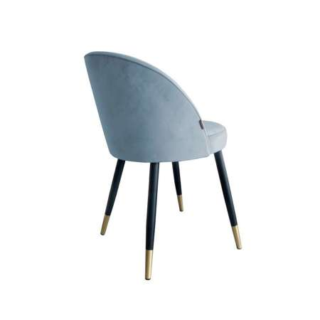 Gray-blue upholstered CENTAUR chair material BL-06 with golden leg