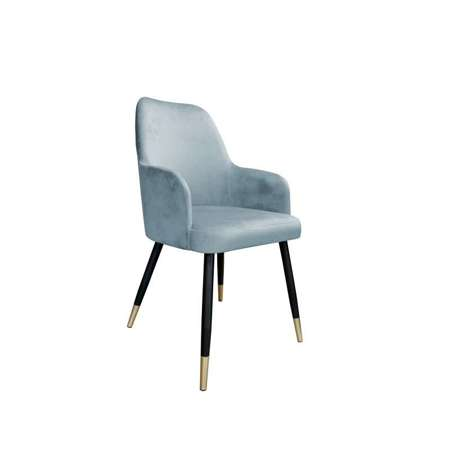 Gray-blue upholstered PEGAZ chair material BL-06 with golden leg