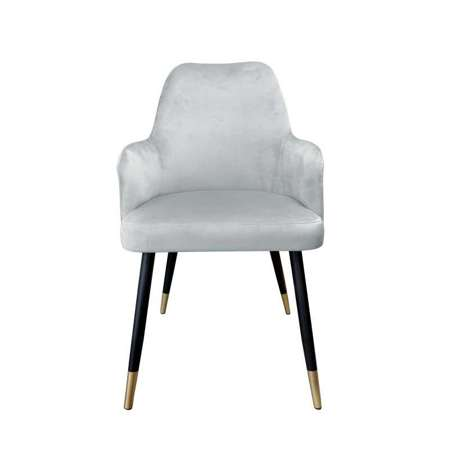 Gray upholstered PEGAZ chair material MG-17 with golden leg