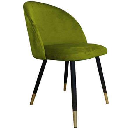 KALIPSO chair green olive BL-75 material with golden leg