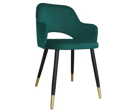 Marine upholstered STAR chair material MG-20 with golden leg