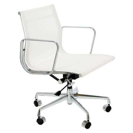 Office armchair CH1171T white mesh, chr