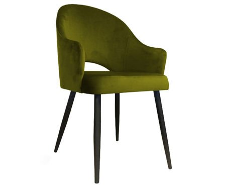 Olive upholstered chair armchair DIUNA material BL-75