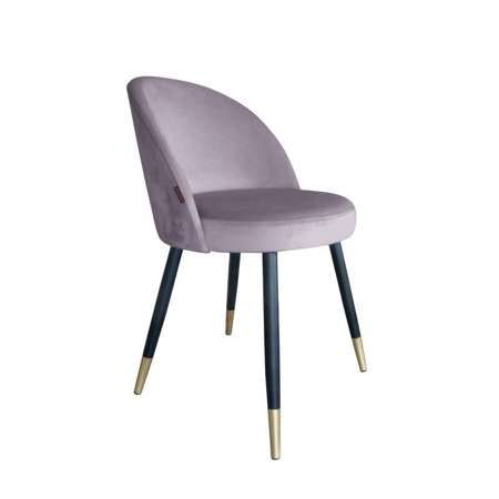 Pink upholstered CENTAUR chair material MG-55 with golden leg