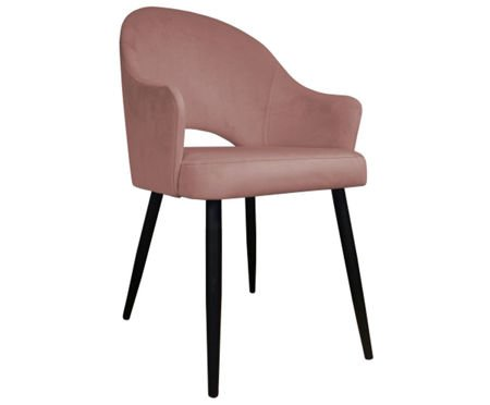 Pink upholstered chair DIUNA material MG-58 coral