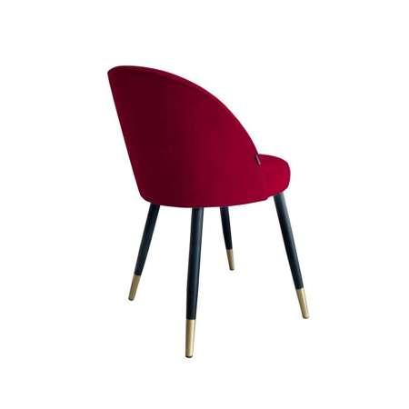 Red upholstered CENTAUR chair material MG-31 with golden leg