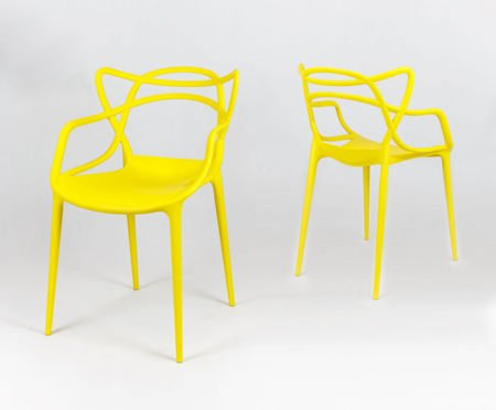 SK Design KR013 Yellow Chair