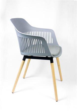SK DESIGN KR049 LIGHT GREY CHAIR + CUSHION SEAT