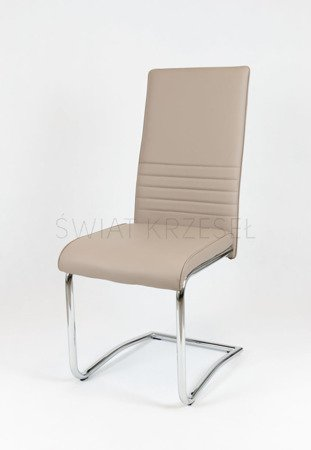 SK DESIGN KS022 BEIGE Synthetic lether chair with chrome rack