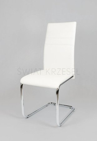SK DESIGN KS024 WHITE SYNTHETIC LETHER CHAIR