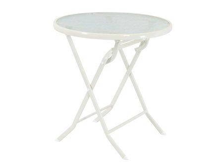 SK DESIGN ST08 WHITE TABLE Ø 70 cm, GLASS