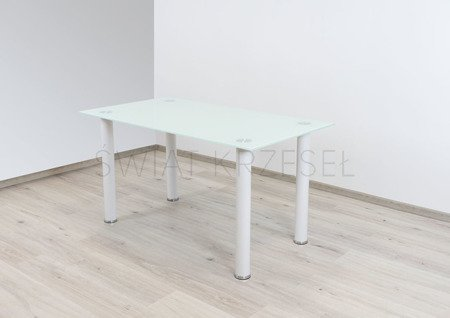 SK DESIGN ST10 WHITE GLASS TABLE 140 x 75 cm
