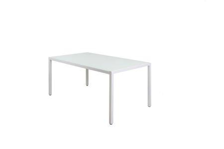 SK DESIGN ST11 WHITE GLASS TABLE 160 x 90 cm