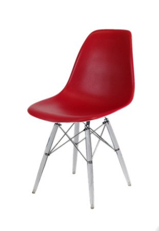 SK Design KR012 Cherry Chair, Clear legs