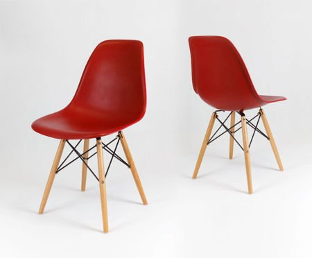 SK Design KR012 Dark Orange Chair Beech