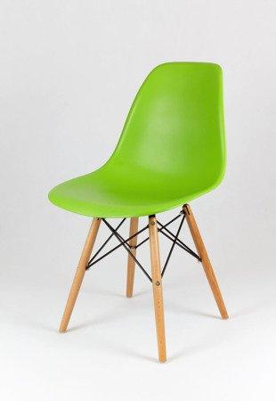 SK Design KR012 Green Chair, Beech legs