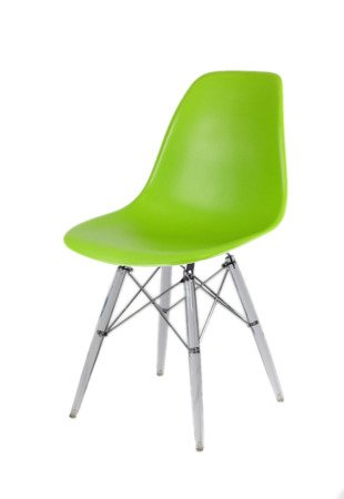 SK Design KR012 Green Chair, Clear legs