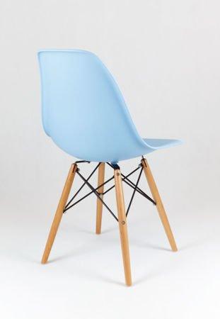 SK Design KR012 Light Blue Chair Beech