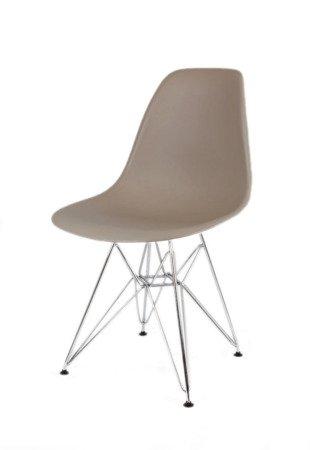 SK Design KR012 Mild Grey Chair Chrome