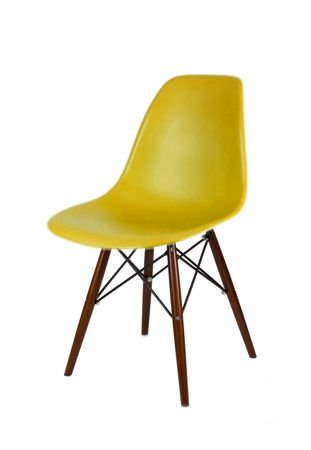 SK Design KR012 Olive Green Chair, Wenge legs