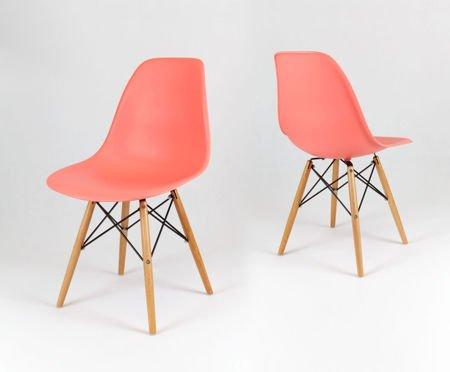 SK Design KR012 Pink Chair, Beech legs