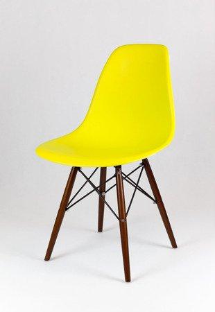 SK Design KR012 Yellow Chair, Wenge legs