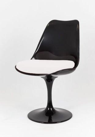 SK Design KR029 Black Swivel Chair + Cushion